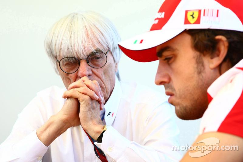 Bernie Ecclestone and Fernando Alonso, Scuderia Ferrari interview