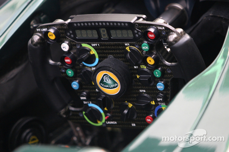 Team Lotus steering wheels