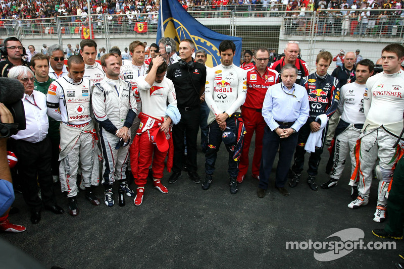 Minute of silence on the grid, Jean Todt, FIA President