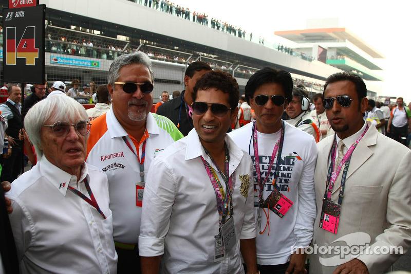 Bernie Ecclestone, and Vijay Mallya, Force India F1 Team Owner
