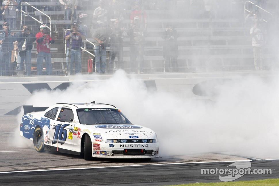 Race winner Trevor Bayne