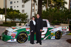 Ron Hornaday with his wife