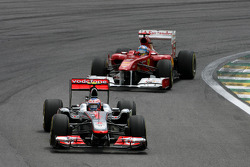 Jenson Button, McLaren Mercedes and Fernando Alonso, Scuderia Ferrari