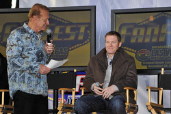Game show host Bob Eubanks and Dale Earnhardt Jr.