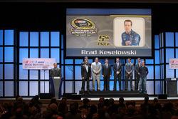 Brad Keselowski, Jimmie Johnson, Dale Earnhardt Jr., Jeff Gordon, Denny Hamlin, Ryan Newman, Kyle Busch and Kurt Busch