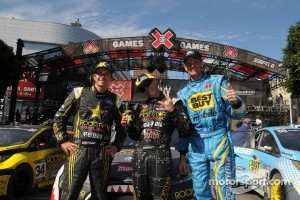 Tanner Foust, Brian Deegan and Marcus Gronholm