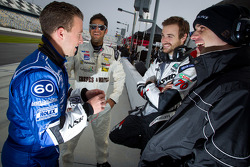 A.J. Allmendinger, Gustavo Yacaman, James Hinchcliffe and Marino Franchitti