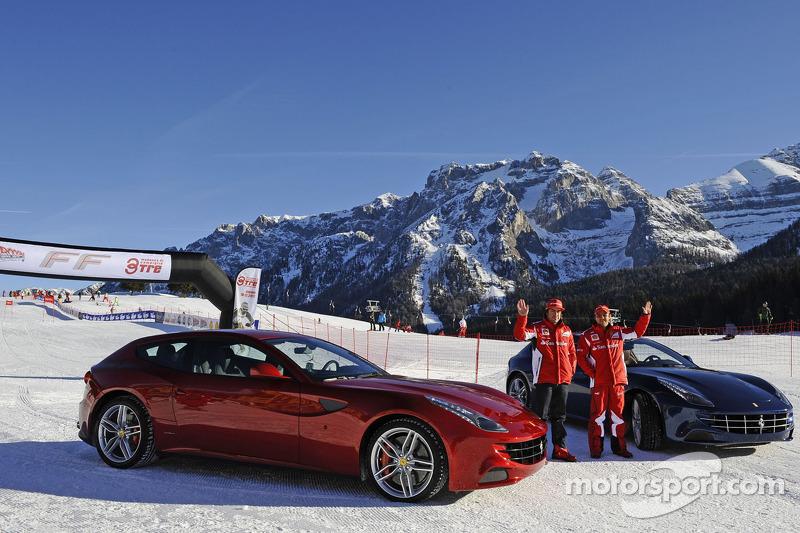 Fernando Alonso and Felipe Massa present the new Ferrari FF