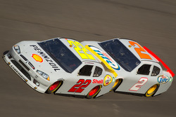 A.J. Allmendinger, Penske Racing Dodge and Brad Keselowski, Penske Racing Dodge