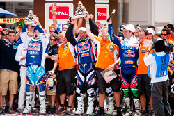Podium: first place in Bike category Cyril Despres, second place Marc Coma, third place Helder Rodrigues