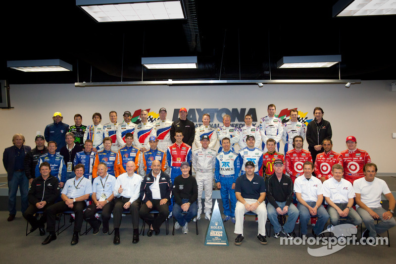 Rolex 24 At Daytona Champions fotoshoot