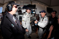 Brian Johnson with Carlos de Quesada and Jim Pace after his last stint