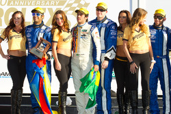 DP podium: third place Jorge Goncalvez, Michael McDowell, Felipe Nasr, Gustavo Yacaman