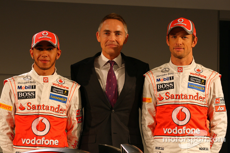 Lewis Hamilton, McLaren Mercedes, Martin Whitmarsh, McLaren, Chief Executive Officer and Jenson Butt