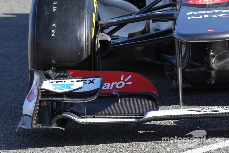 Voorvleugel - Sauber C31 Ferrari voorstelling