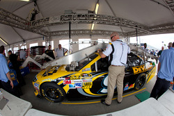 Car of Marcos Ambrose, Petty Motorsport Ford at technical inspection