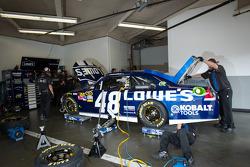 Hendrick Motorsports Chevrolet team members at work