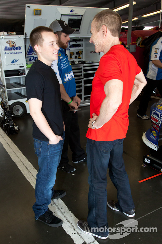 Mark Martin Michael Waltrip Racing Toyota With Son Matt