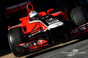 Timo Glock with the 2011 Marussia