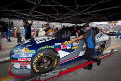 Car of Kasey Kahne, Hendrick Motorsports Chevrolet at technical inspection