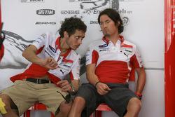 Valentino Rossi y Nicky Hayden, Ducati Marlboro Team