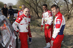 Sébastien Loeb, Citroën Total World Rally Team Giovanni Bernacchini y Nasser Al-Attiyah, Qatar World Rally Team