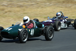 #41 Brian Maile - Cooper T41 (1956) and #40 Mike Knight - Merlyn Mk20