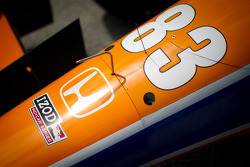 Car detail Charlie Kimball, Novo Nordisk Chip Ganassi Racing Honda