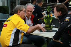 Jean-Francois Caubet, Managing director of Renault with Christian Horner, Red Bull Racing, Sporting