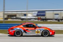 #18 RS1 Porsche Cayman: Aurora Straus, Connor Bloum, Nick Longh