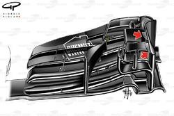 Williams F40, ön kanat detay
