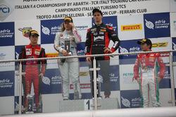 Gara 3 podio Rookie: Leonardo Lorandi (Baithech Srl ,Tatuus F.4 T014 Abarth #11), Felipe Branquinho De Castro (DR Formula,Tatuus F.4 T014 Abarth #55), Enzo Fittipaldi (Prema Power Team,Tatuus F.4 T014 Abarth #74)