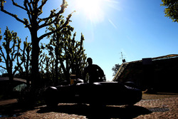 Une statue de Juan Manuel Fangio