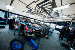 Hoonigan Racing Division Ford team area