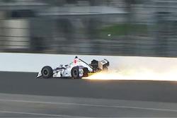 Zach Veach, A.J. Foyt Enterprises Chevrolet crash