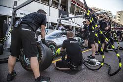 Mercedes AMG F1 W08 práctica de boxes