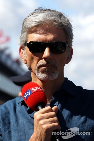 Damon Hill, former F1 World Champion driver, now a TV commentator.