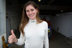 Cyndie Allemann after passing the Super GT rookie test