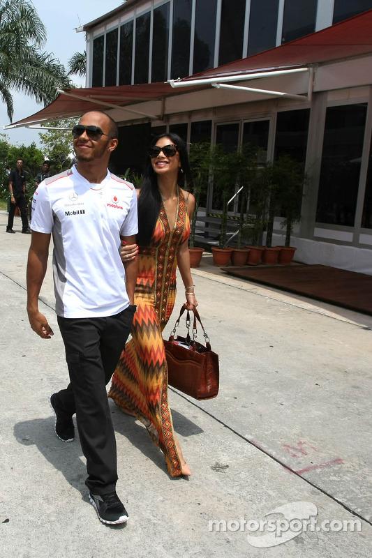 Lewis Hamilton, McLaren Mercedes en vriendin Nicole Scherzinger
