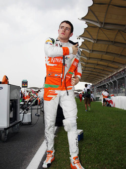 Paul di Resta, Sahara Force India F1 on the grid