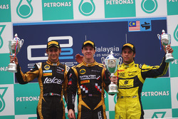 Podium: race winner James Calado, second place Esteban Gutierrez, third place Felipe Nasr