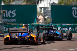 Rubens Barrichello, KV Racing Technology Chevrolet and Charlie Kimball, Novo Nordisk Chip Ganassi Racing Honda