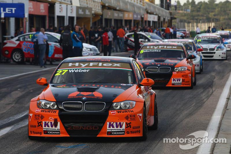 Gabor Weber, BMW 320 TC, Zengo Motorsport en Norbert Michelisz, BMW 320 TC, Zengo Motorsport