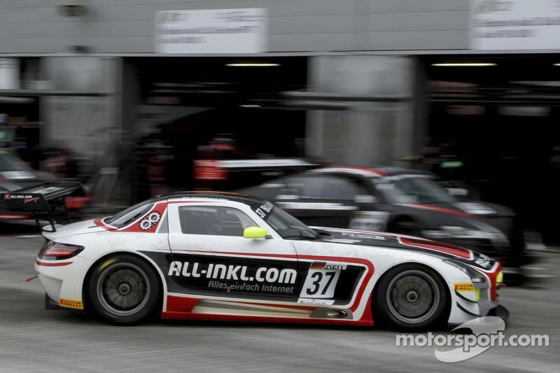 #37 All-Inkl.com Münnich Motorsport Mercedes-Benz SLS AMG GT3: Nicky Pastorelli, Thomas Jäger
