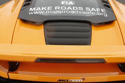FIA Make Road Safe campaign on a McLaren