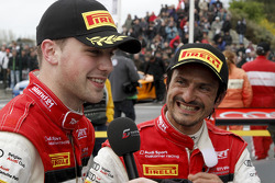 Qualifying race winners Stéphane Ortelli and Laurens Vanthoor