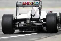 Kamui Kobayashi, Sauber F1 Team rear diffuser detail