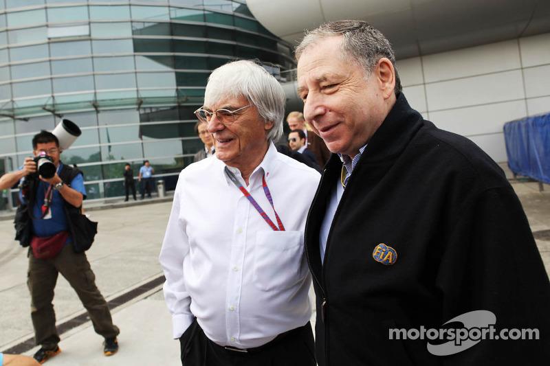 Jean Todt, FIA President met Bernie Ecclestone, CEO Formula One Group