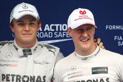 Nico Rosberg, Mercedes GP and Michael Schumacher, Mercedes GP