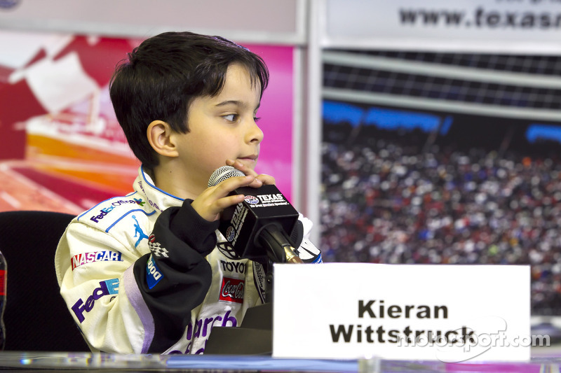Kieran Wittstruck met Denny Hamlin, Joe Gibbs Racing Toyota interviews